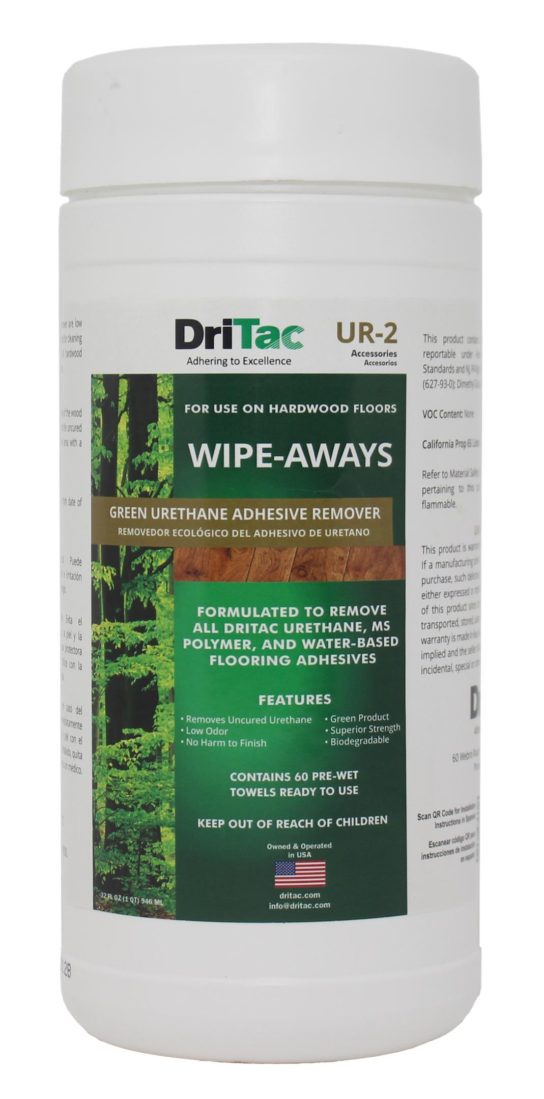 Wipe Aways Urethane Adhesive Remover For Wood Flooring